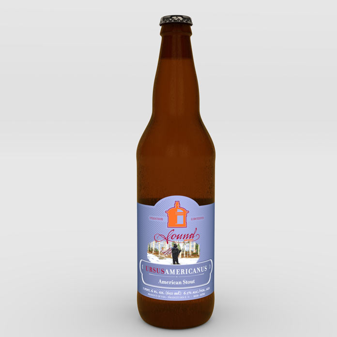 'Ursus Americanus' beer label
