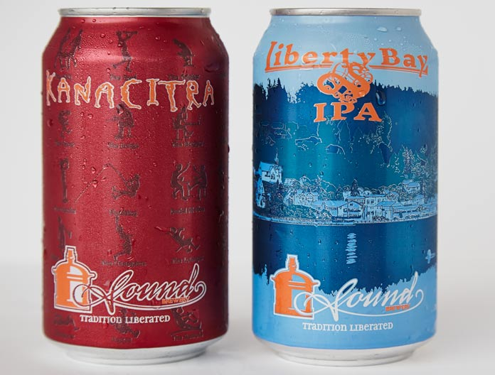 kanacitra and liberty bay beer cans